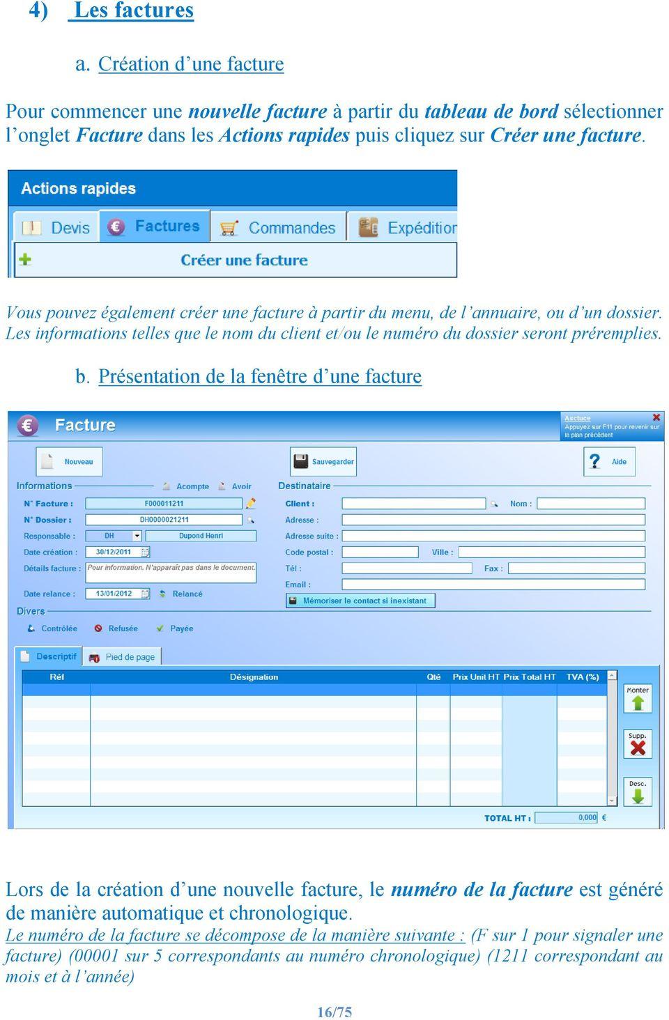 Information facture :  pour une comptabilité pratique et sûre